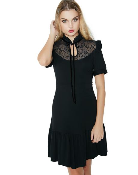 Raven Never-Ruffle Dress
