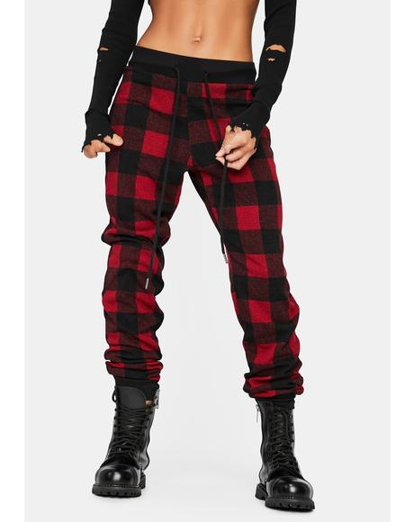 Plaid To Meet You Lounge Pants