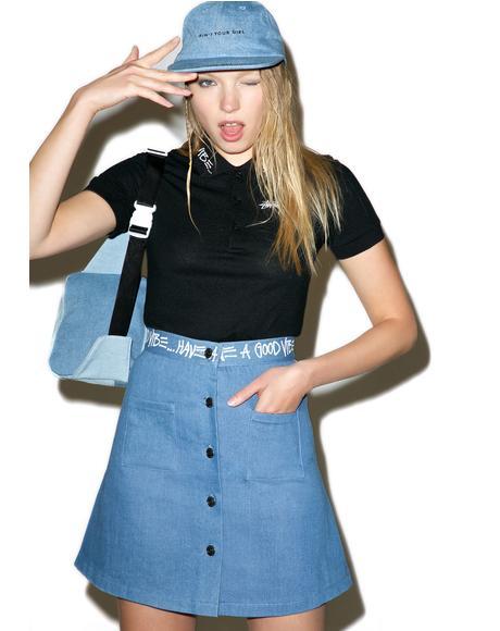 Denim Link Skirt