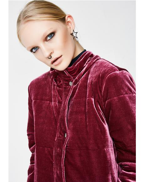 Best Mistake Velvet Puffer Jacket