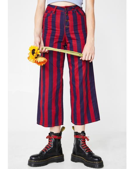Button Up Wide Leg Pants