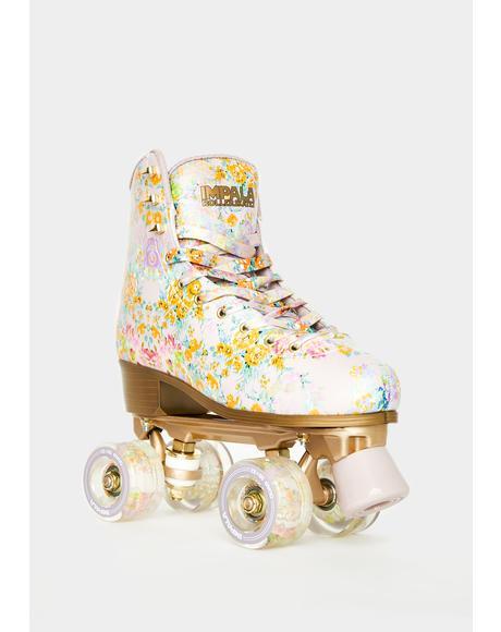 Cynthia Rowley Floral Roller Skates