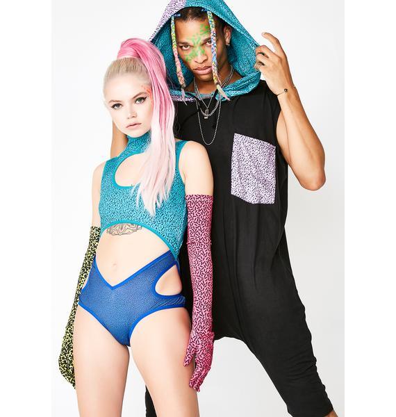 Club Exx Aqua Colorize Me Gloves N' Bodysuit
