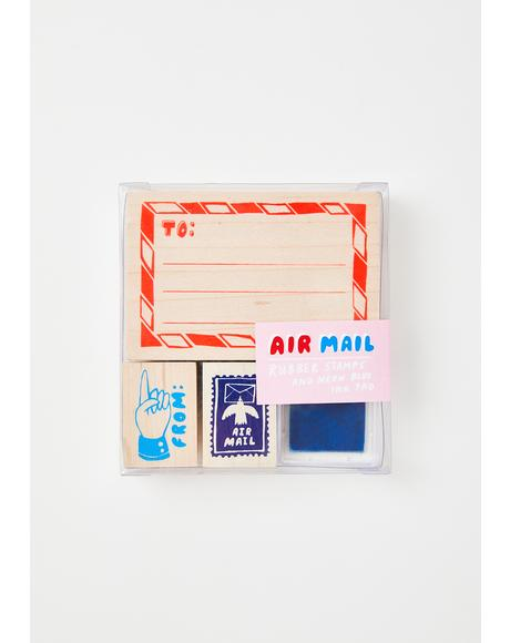 Air Mail Rubber Stamp Kit