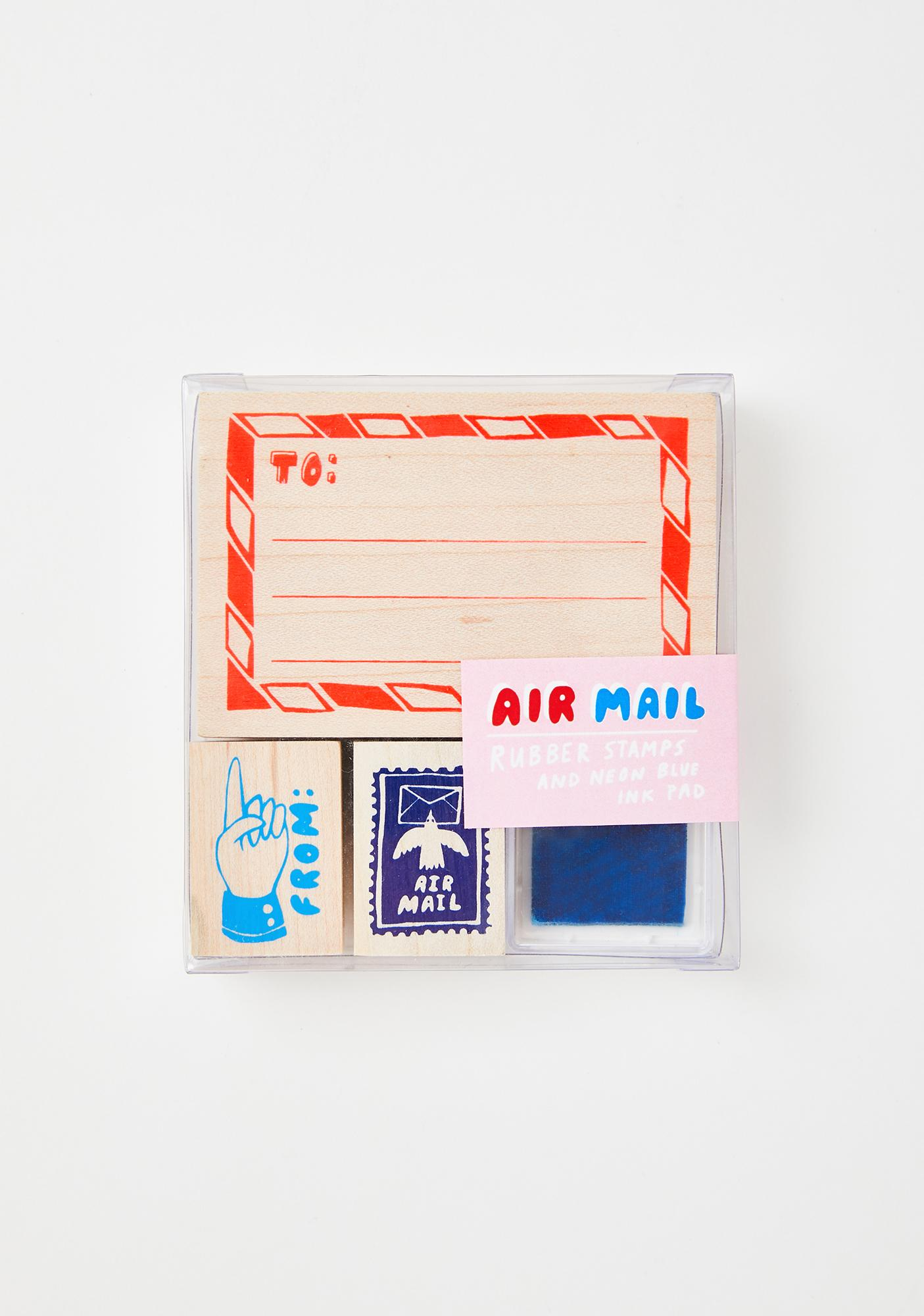 Yellow Owl Workshop Air Mail Rubber Stamp Kit