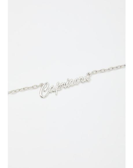 So Capricorn Nameplate Necklace