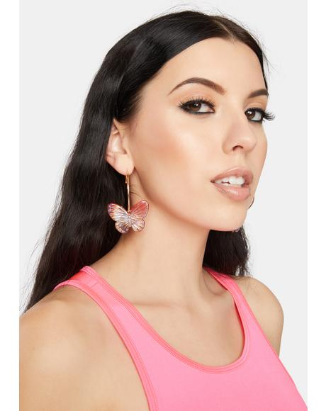 Magical Butterfly Hoop Earrings