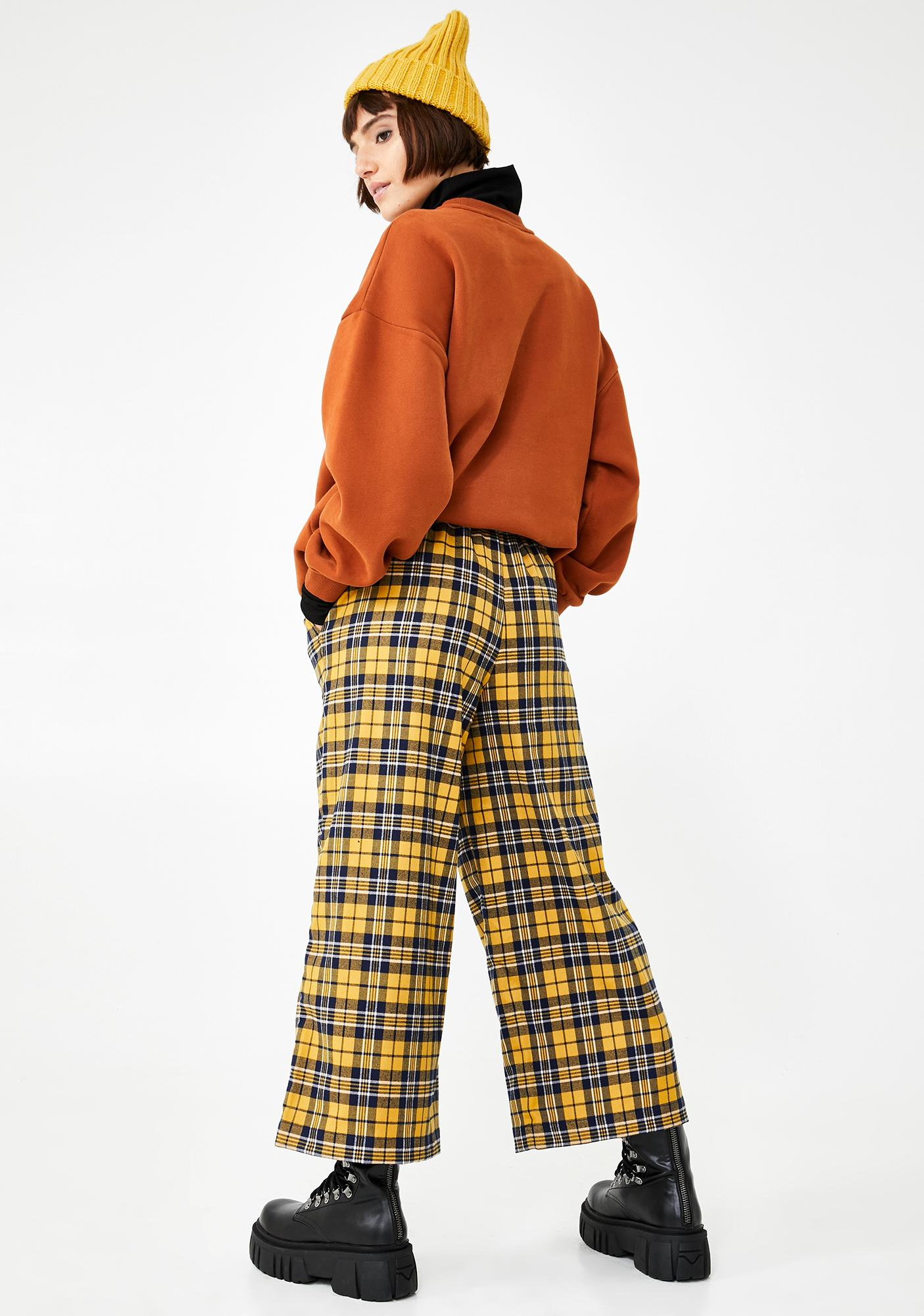 Lazy Oaf Checkpoint Wide Leg Trousers