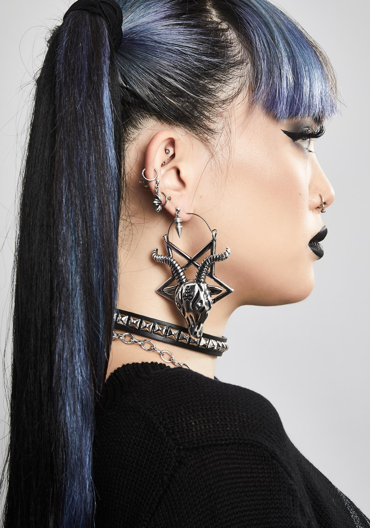 Horned God Pentagram Earrings
