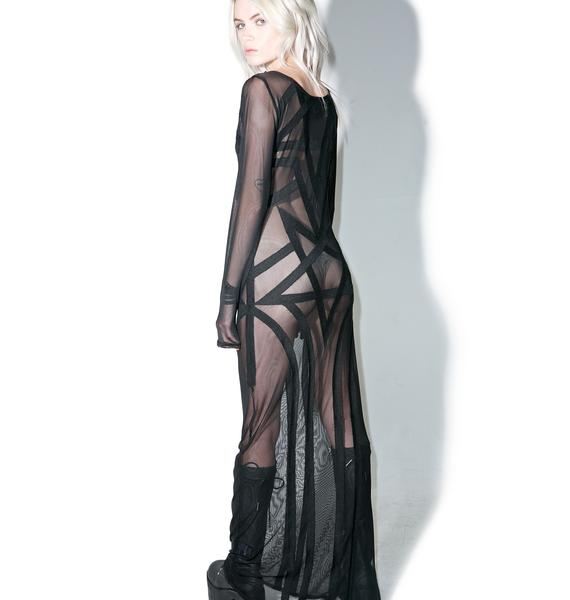 Killstar Zandra Mesh Maxi Dress