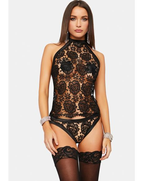 What's Ur Deal Lace Lingerie Set