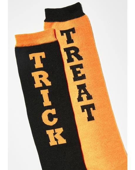 Tricked Out Treat Knee High Socks