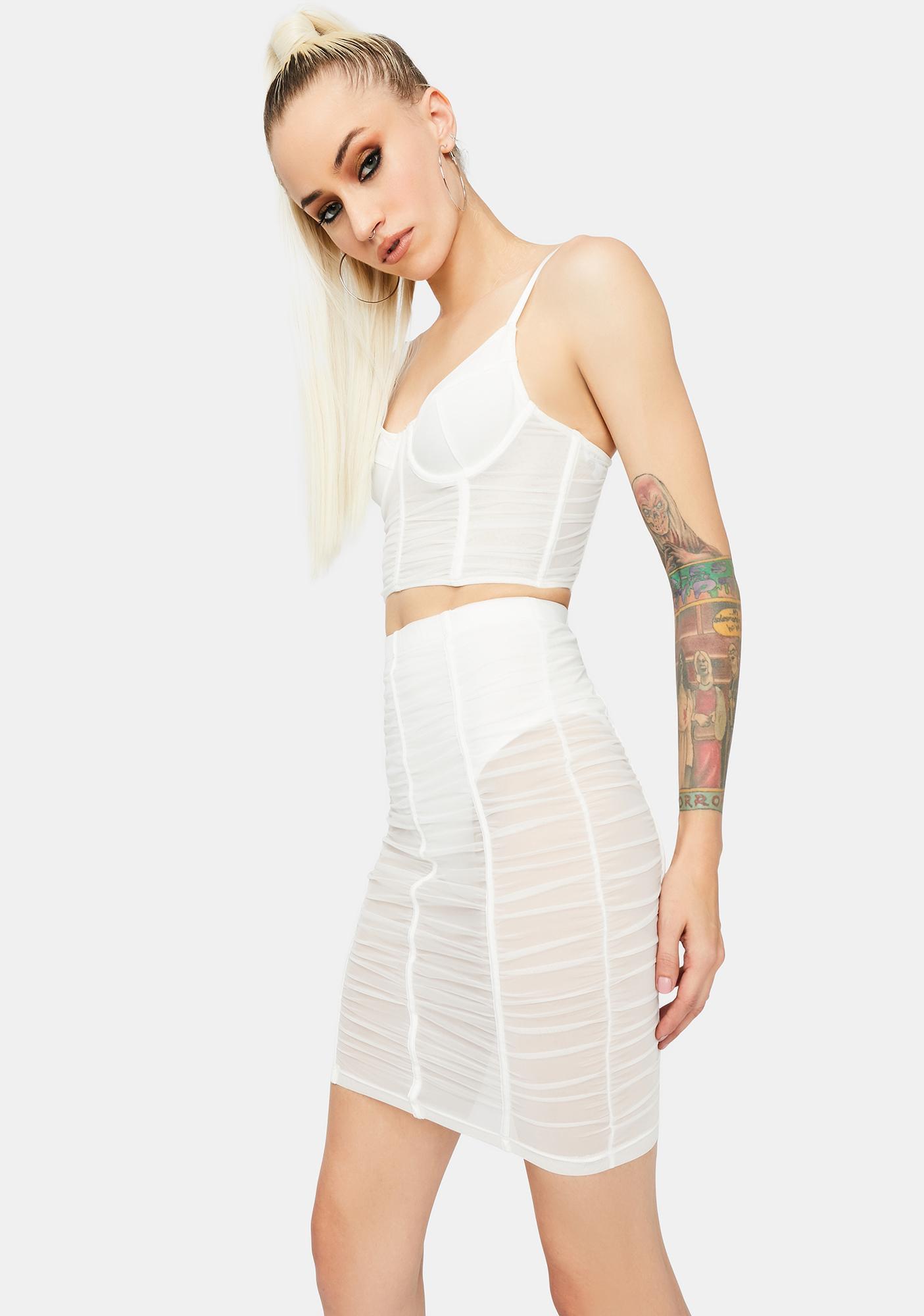 Angel Now U See Me Mesh Skirt Set