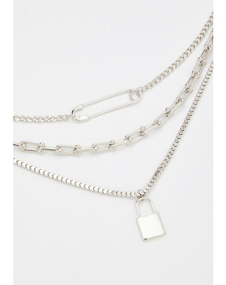 Unsafe Distance Layered Necklace
