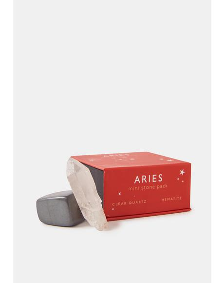 Aries Zodiac Mini Stone Pack