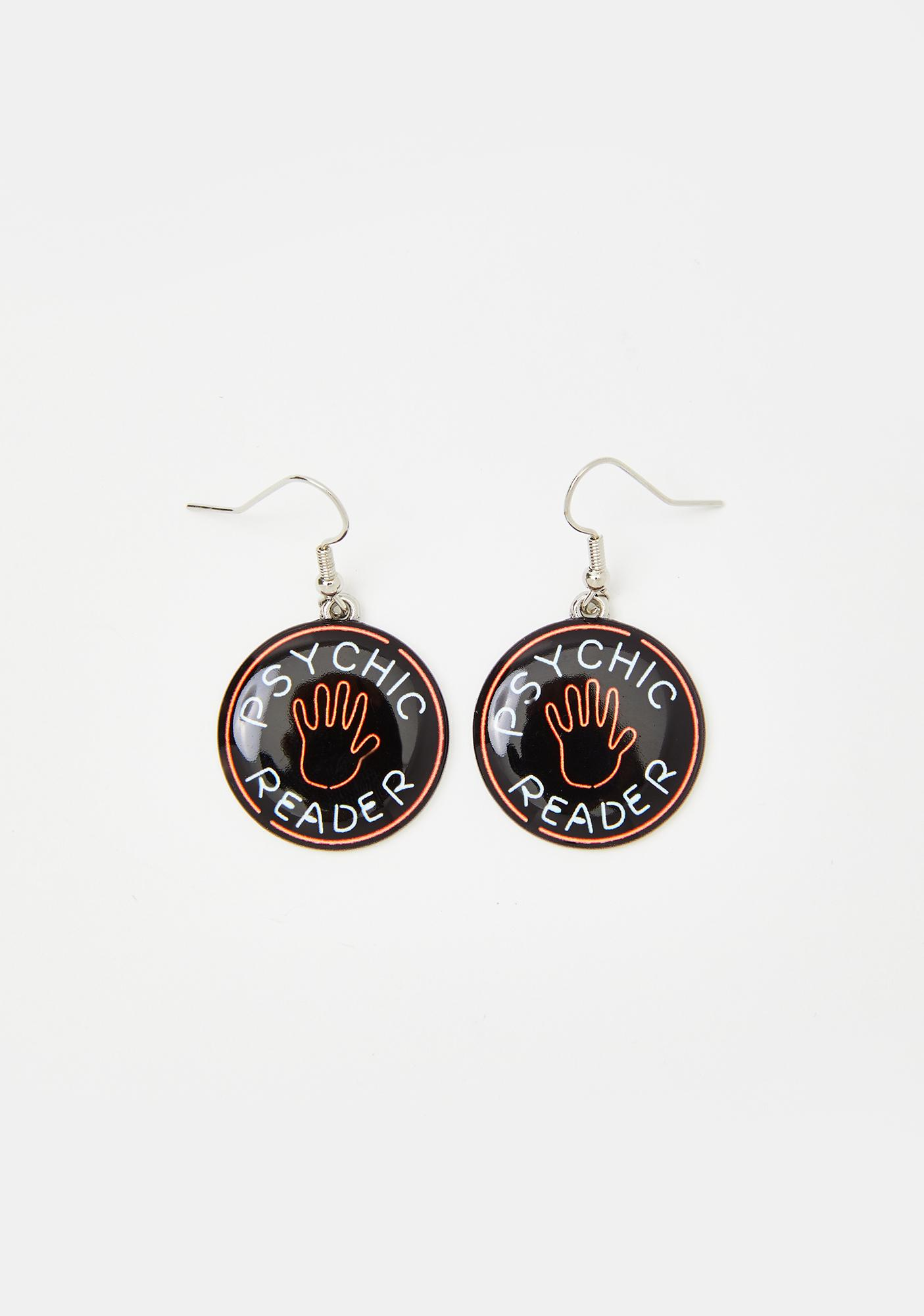 Fate Line Coin Earrings