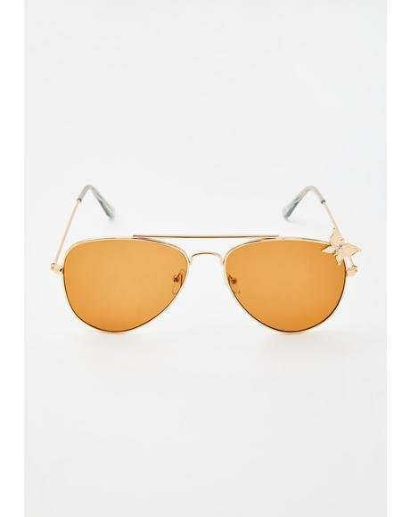 Pixie Flyer Aviator Sunglasses