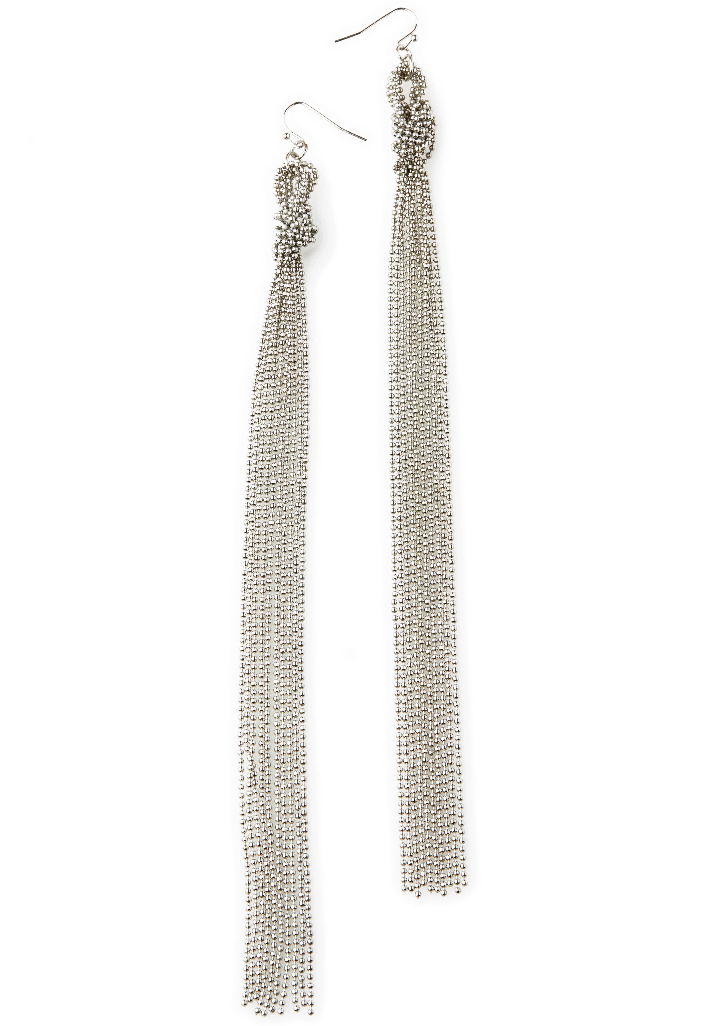 Ball Chain Knot Earrings