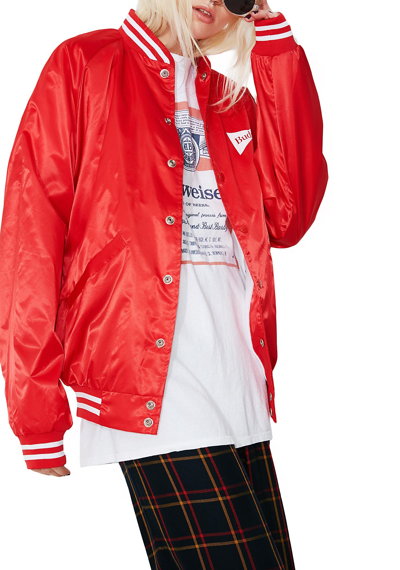 junk food clothing budweiser varsity jacket dolls kill