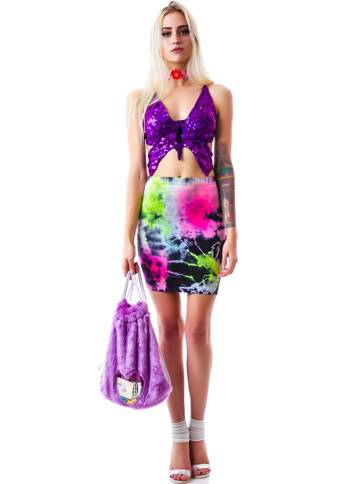 American Deadstock Paradise City Spandez Skirt