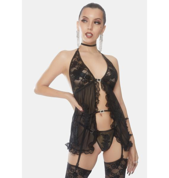 Silent Nights Sheer Babydoll Set
