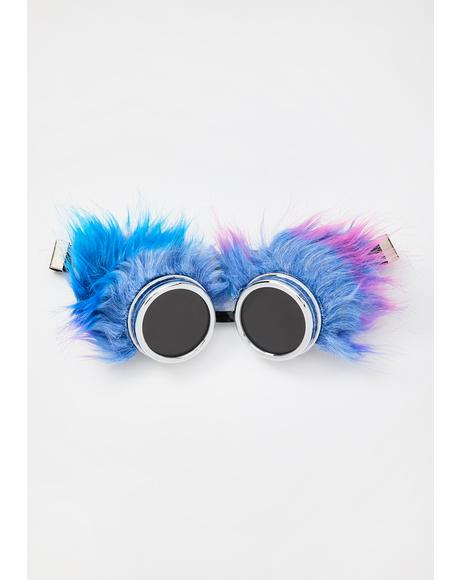 Electric Animal Fuzzy Goggles