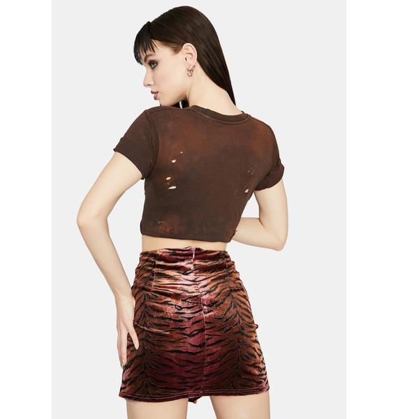 Fierce Intentions Tiger Print Skirt