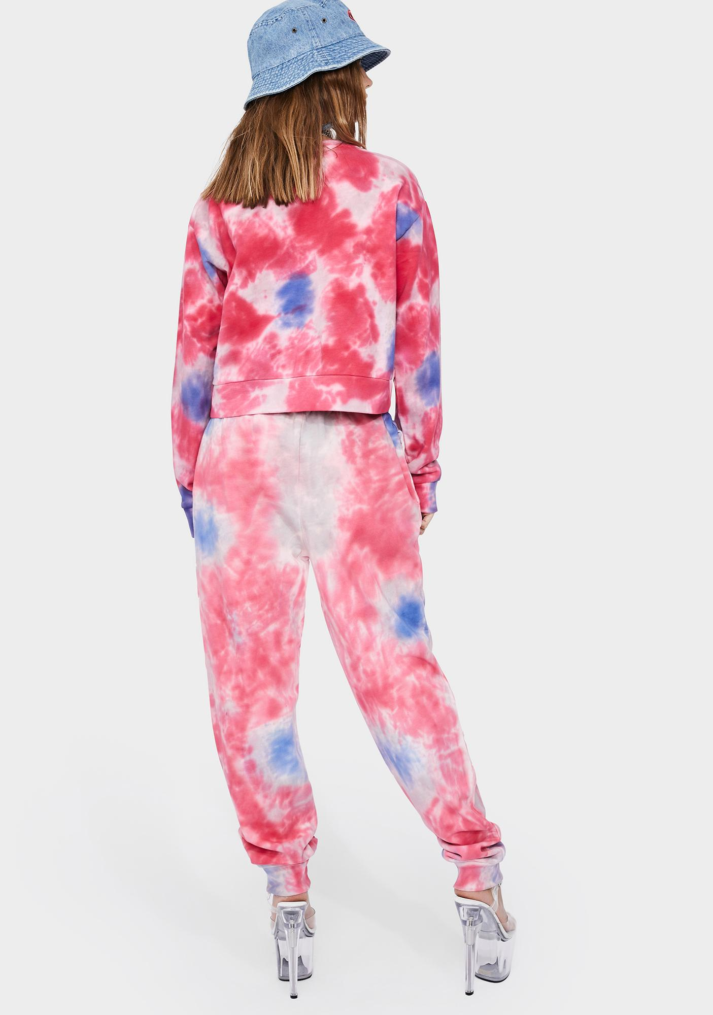 Kappa Pink Authentic Camda Tie Dye Sweatpants