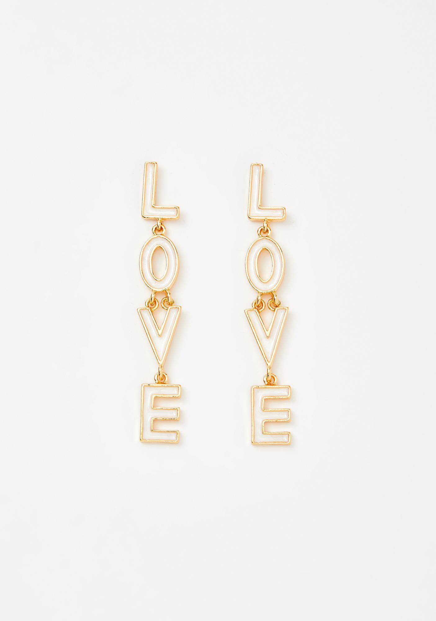 Give Me A Sign Drop Earrings