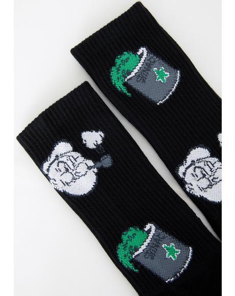 Popeye Spinach Socks