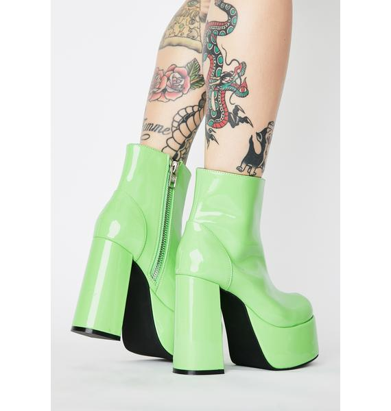 Current Mood Lime Groovy Delight Platform Boots