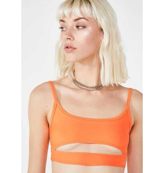 Motel Juiced Cut Out Crop Top