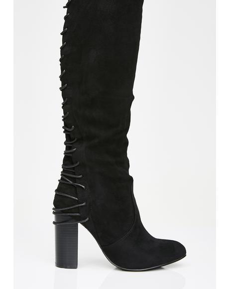 Dangerous Dollz Thigh High Boots