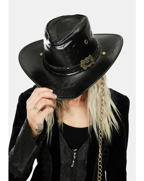 PU Carved Cowboy Hat
