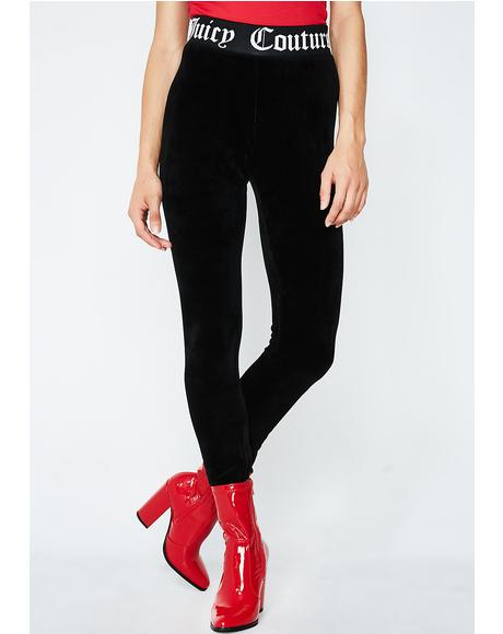 Stretch Velour Leggings