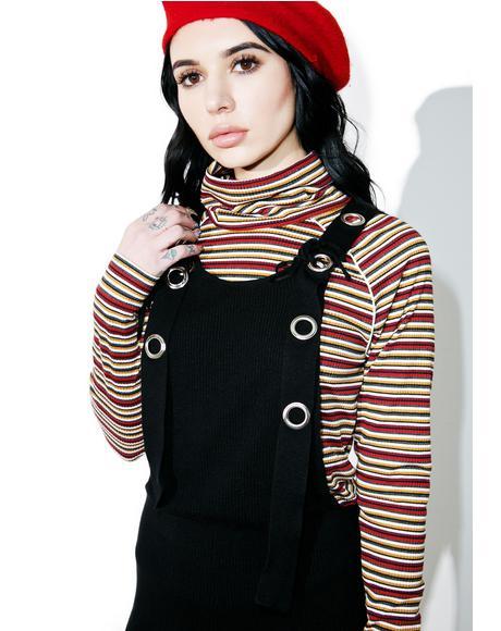 Talkin� In Circles Knit Overalls