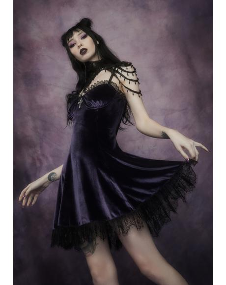 Violet Blind Faith Velvet Dress