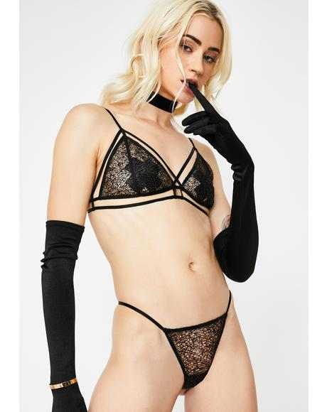 Labeled Lip Service Lace Lingerie Set