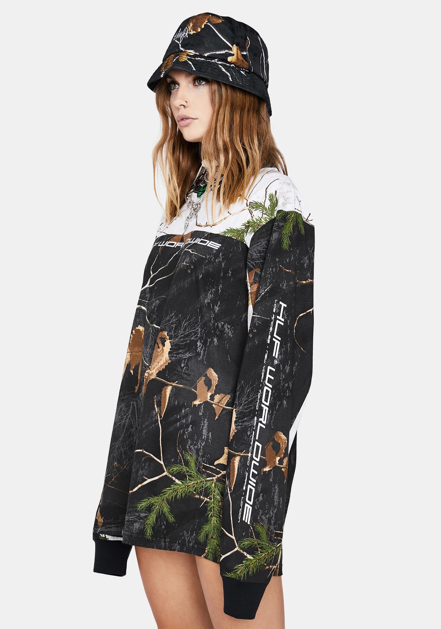 HUF Realtree Black Endo Long Sleeve Jersey