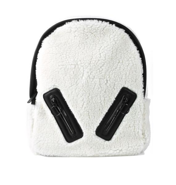 Skinnydip Charlie Shearling Backpack