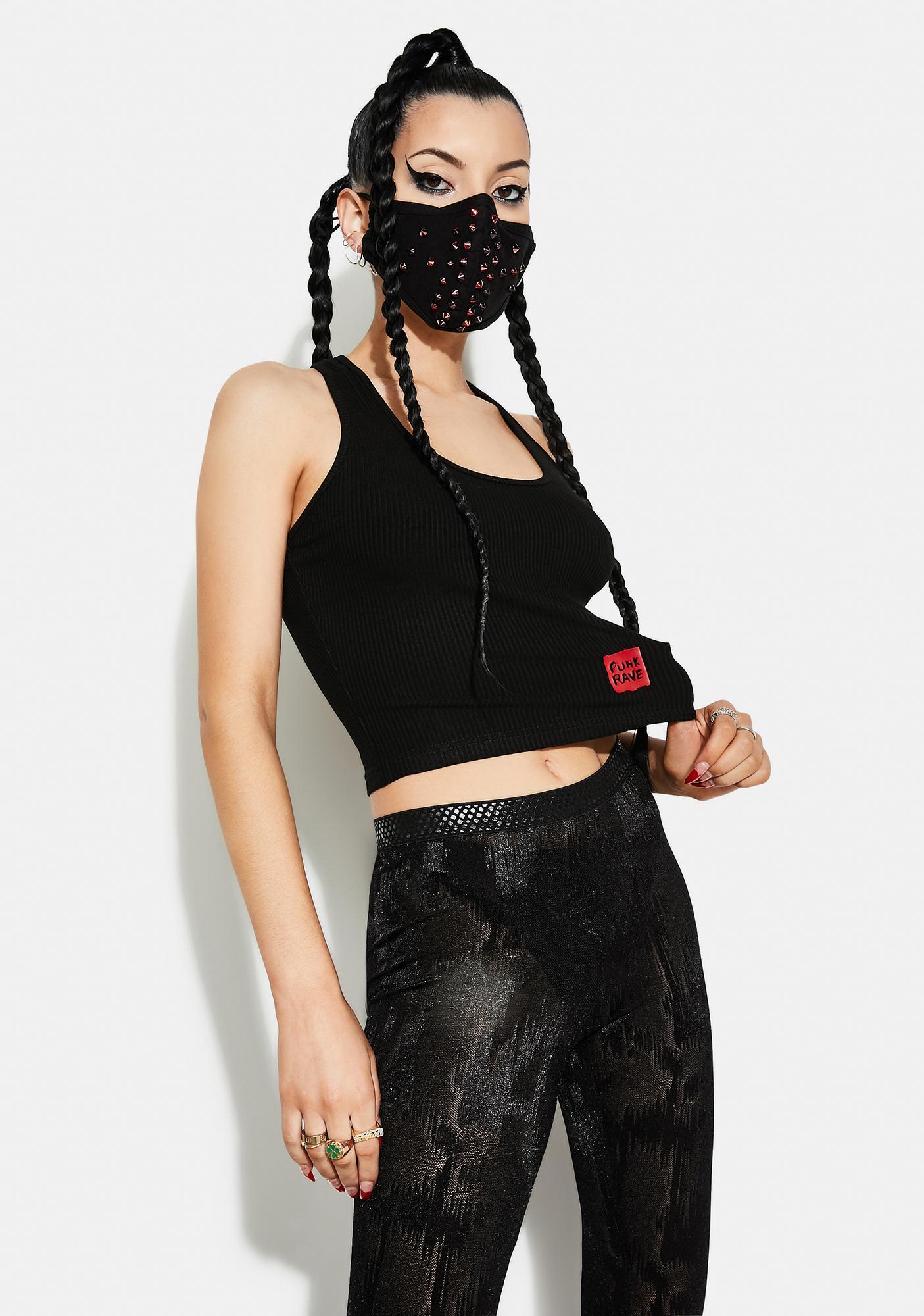 Punk Rave Back Cross Print Vest