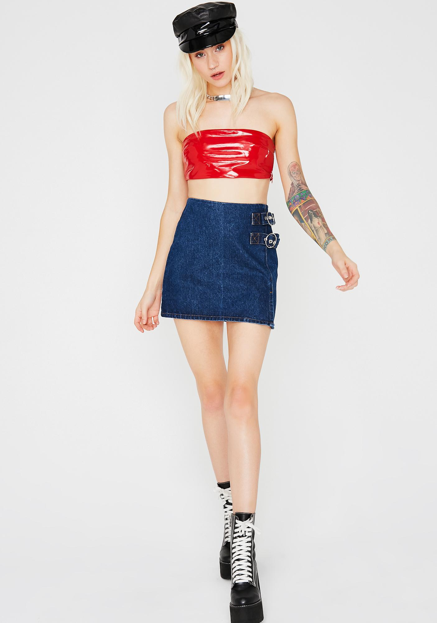 Keep Me Close Buckle Skirt