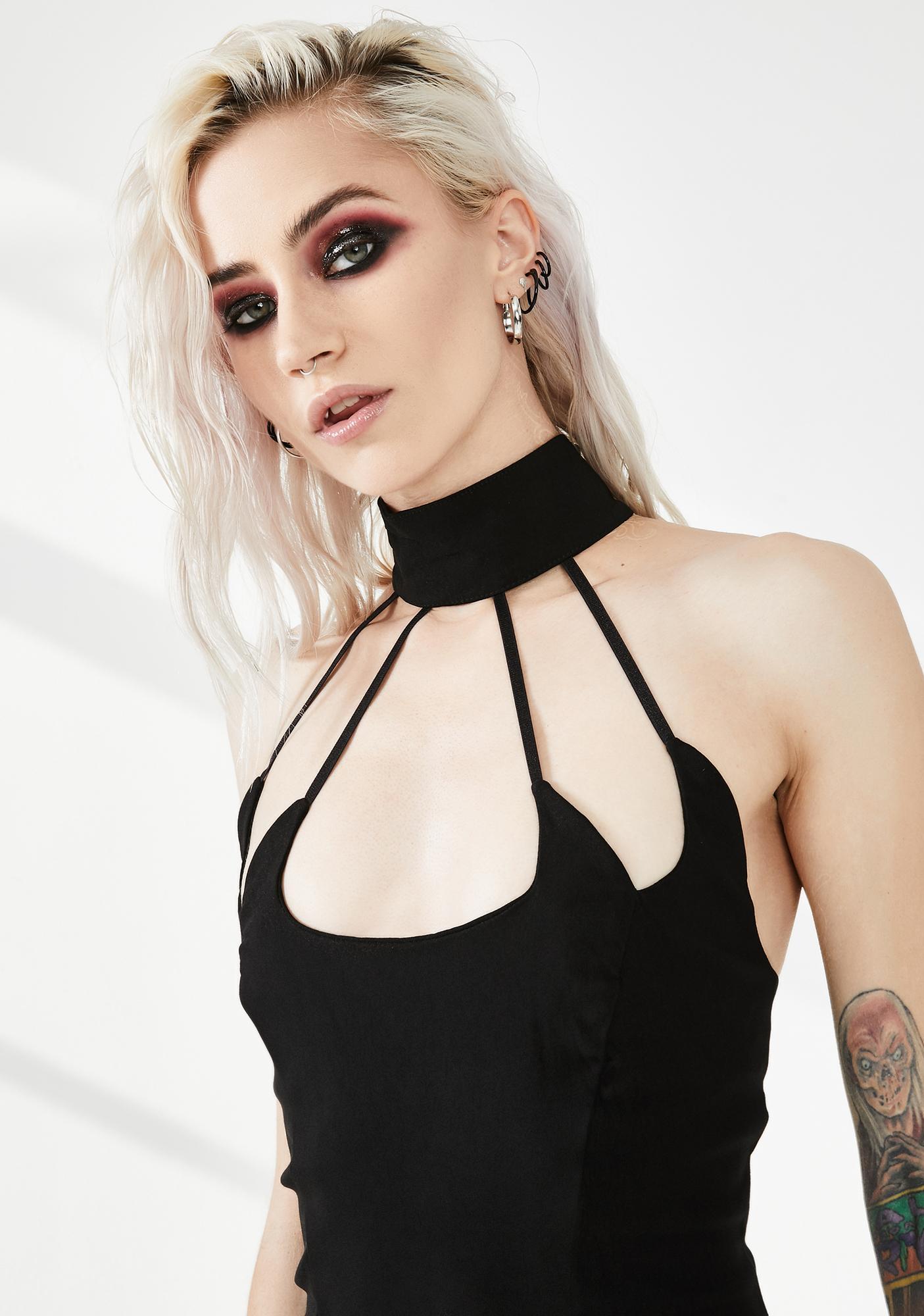 Necessary Evil Hestia Cut-Out Skater Dress