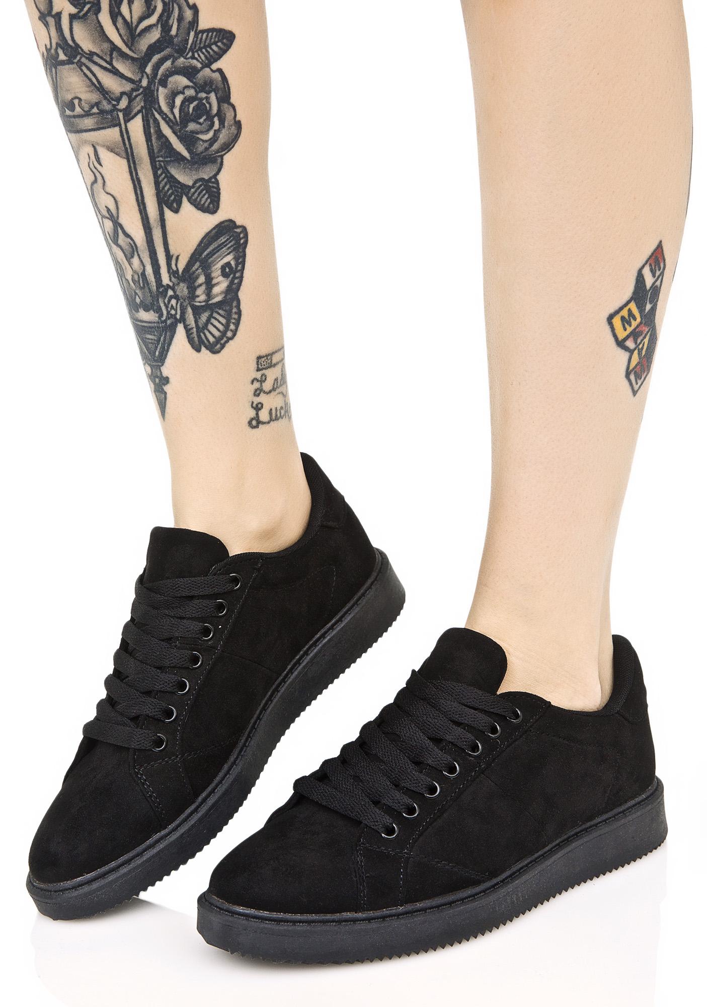 Chic Black Mono Sneakers