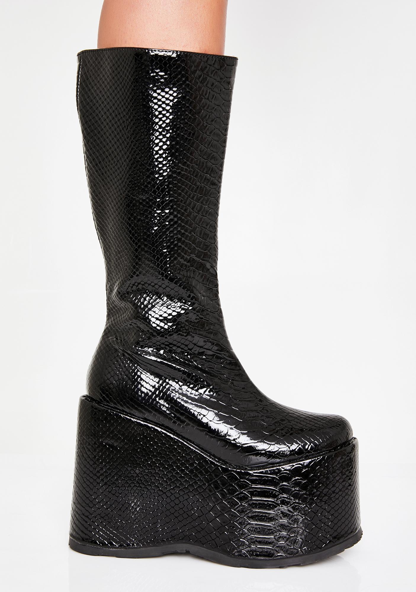 Midnight Rave Venom Platform Boots