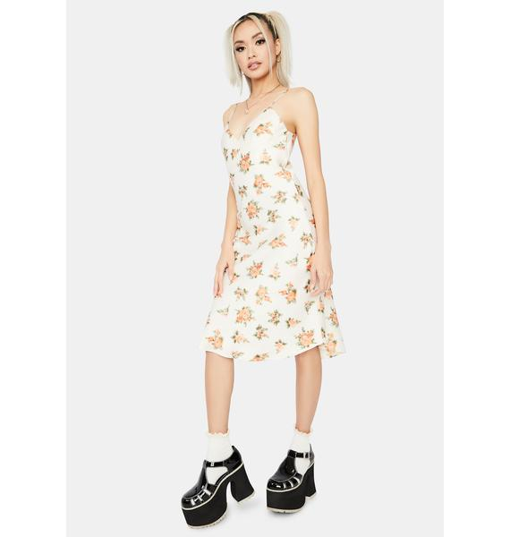 Into The Fields Floral Slip Dress