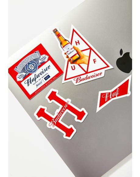 x Budweiser Sticker Pack