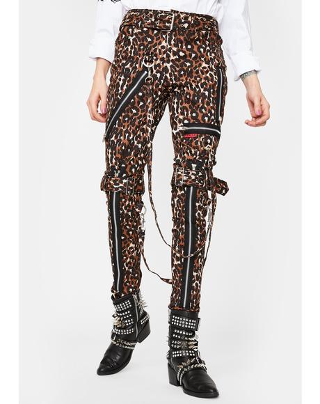 Leopard Classic Slim Leg Bondage Pants
