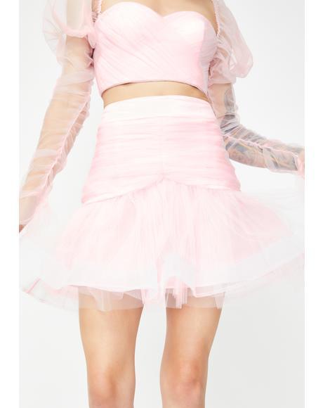 Pussy Peach Mini Skirt