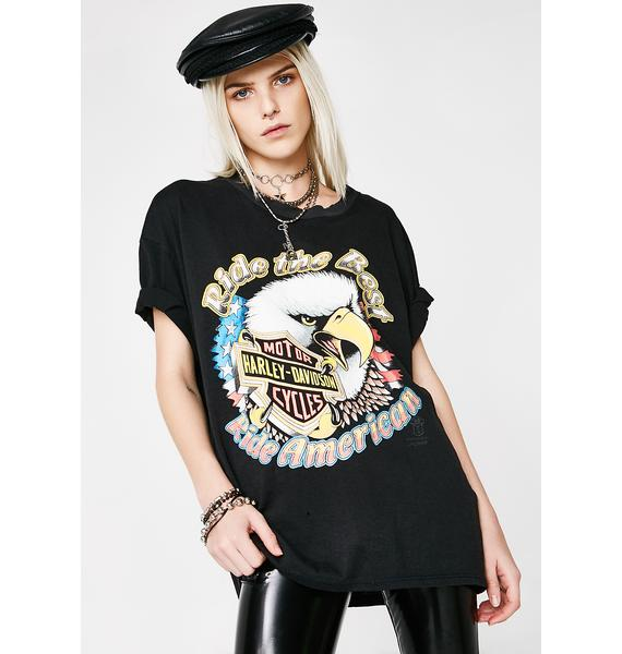 "Vintage 90s ""Ride The Best"" Harley Tee"